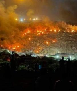 70 الف اطار احرقها ثوار بيتا في مواجهة الاستيطان بجبل صبيح خلال 75 يوما