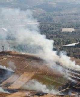 اثار القصف الاسرائيلي لاراضي زراعية في بيت حانون