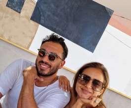 أول ظهور للفنانة نيللى كريم وزوجها هشام عاشور بإطلالة بسيطة بعد عقد قرانهما