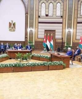 البرلمان العربي يثمن مخرجات القمة الثلاثية الفلسطينية المصرية الأردنية