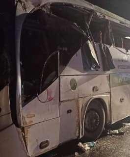 مصرع 12 مصريا واصابة 34 في حادث الاتوبيس السياحي بالسويس