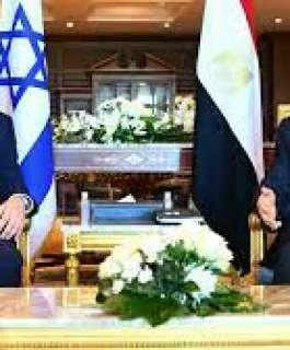 الرئيس المصري ورئيس الوزراء الإسرائيلي يتباحثان في عدة ملفات بشرم الشيخ