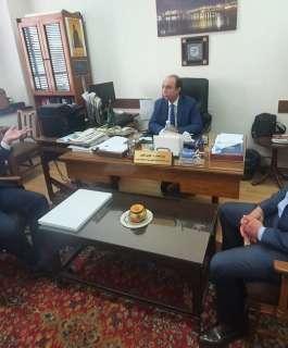 """""""أبو بكر""""و""""المحمود"""" يُطلعان مسؤولين بالجامعة العربية على انتهاكات الاحتلال بحق الإعلام"""